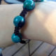Handmade chrysocolla bracelet made by Unik Gemz and inspired by the Brazilian soap opera O Clone. The stones are held together by braided thread.