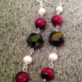 Beautiful, handmade tiger eye earrings with pearls, from Unik Gemz.
