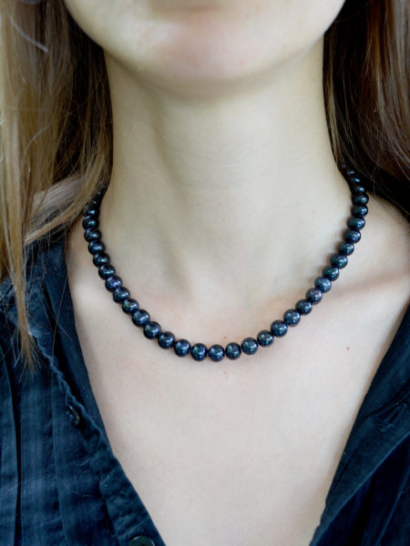 A classic black pearls necklace, handmade with real pearls, another classic that is guaranteed to never go out of fashion!