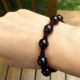 Handmade Shamballa garnet bracelet for women, the perfect gift for St-Valentine day or any anniversary, and for couples who like matching outfits.