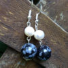 Magnificent handmade Pearls and Jasper Stone Earrings