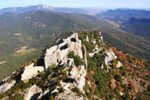 Peyrepertuse Chatar Castle in Languedoc Roussillon, South of France - Picture Copyright 2017 Unikgemz.